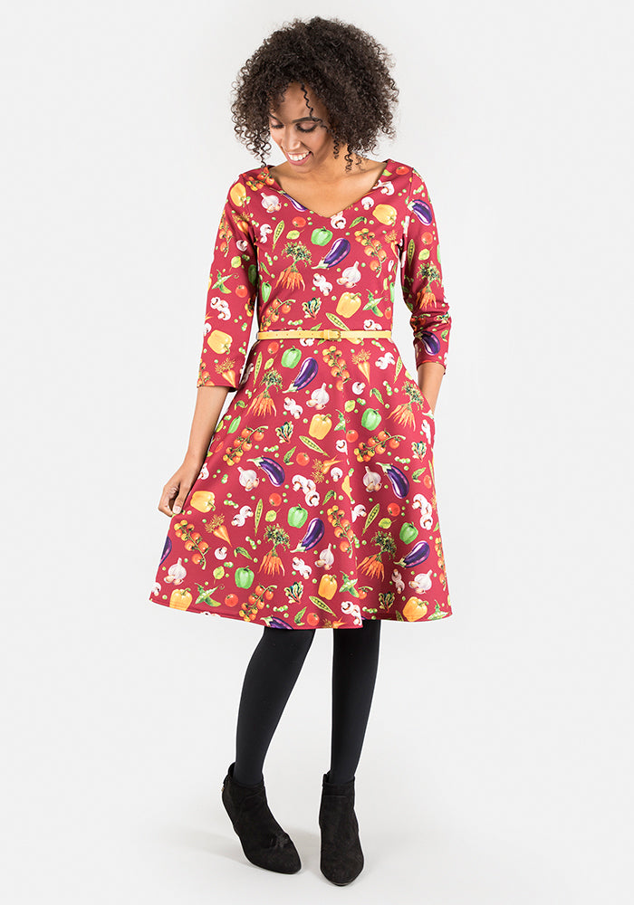 Charlotte Vegetable Print Dress