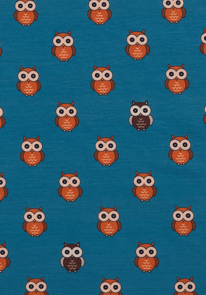 Orissa Teal Owl Print Dress