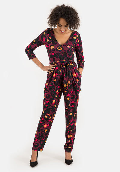 Annette Animal Print Jumpsuit