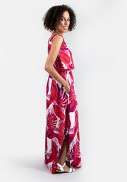 Tahlia Leaf Print Maxi Dress