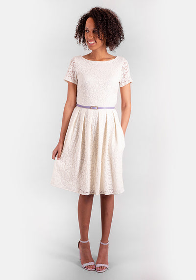 Lara Cream Lace Dress