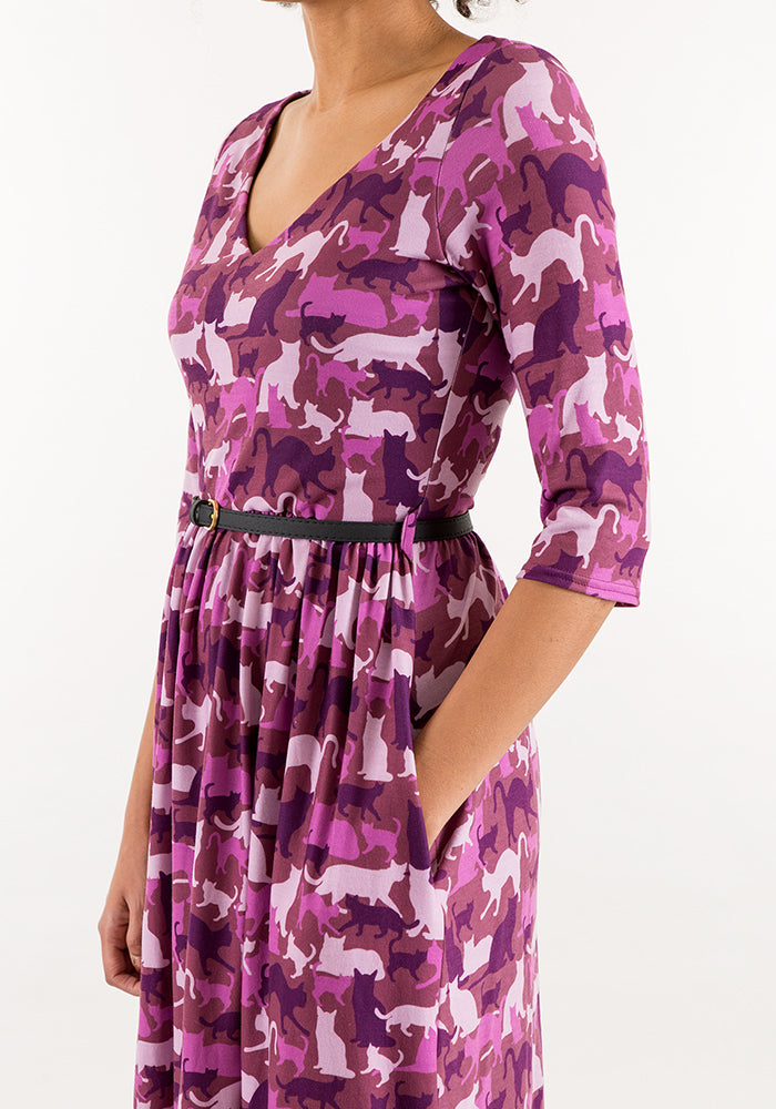 Cass Camouflage Cat Print Dress