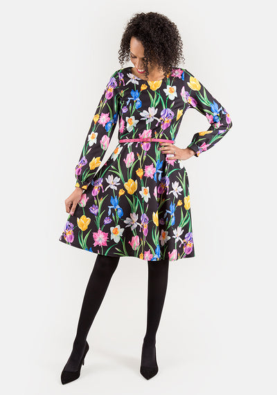 Lorraine Long Sleeve Floral Dress