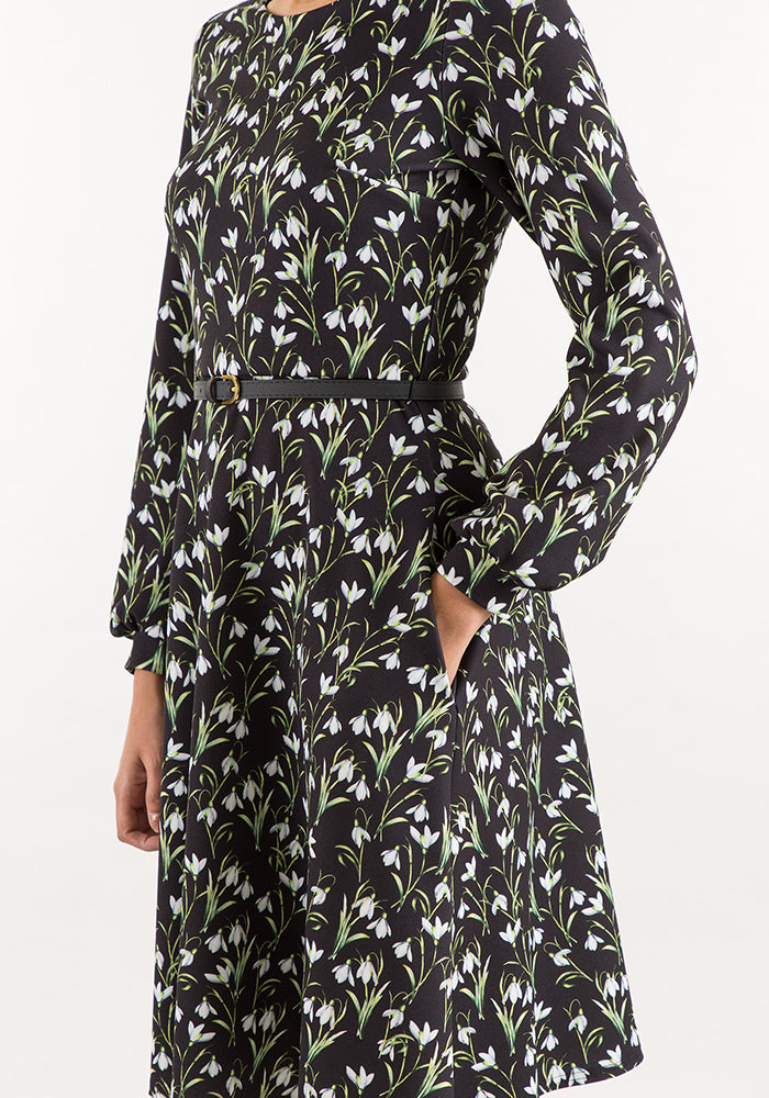 Anna Snowdrop Flower Print Dress