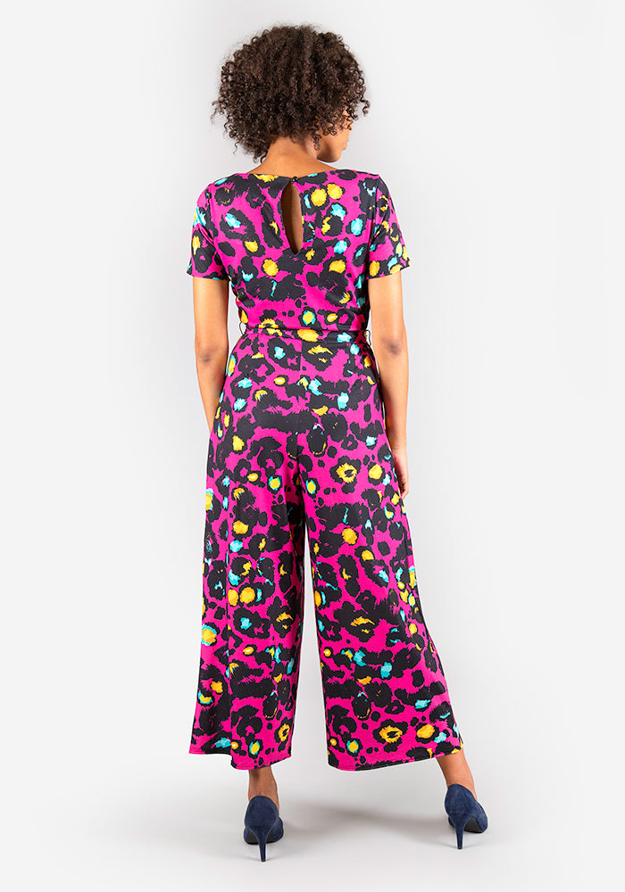 Jessie Animal Print Culotte Jumpsuit