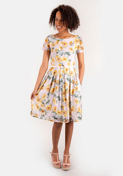 Lola Yellow Floral Lace Dress