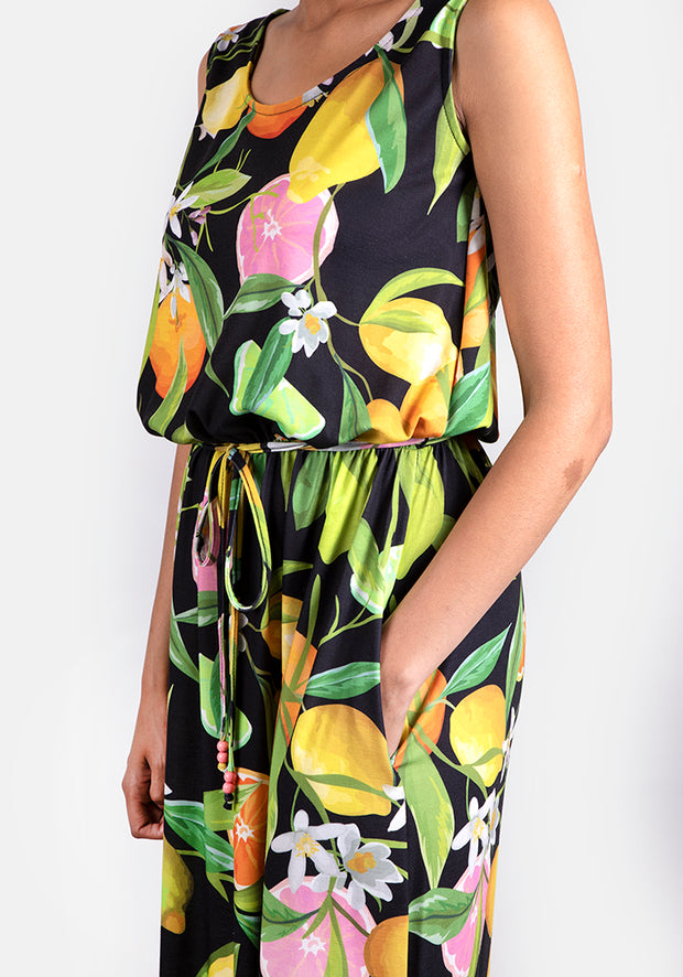 Cindy Citrus Maxi Dress