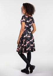 Kate Flamingo Print Dress