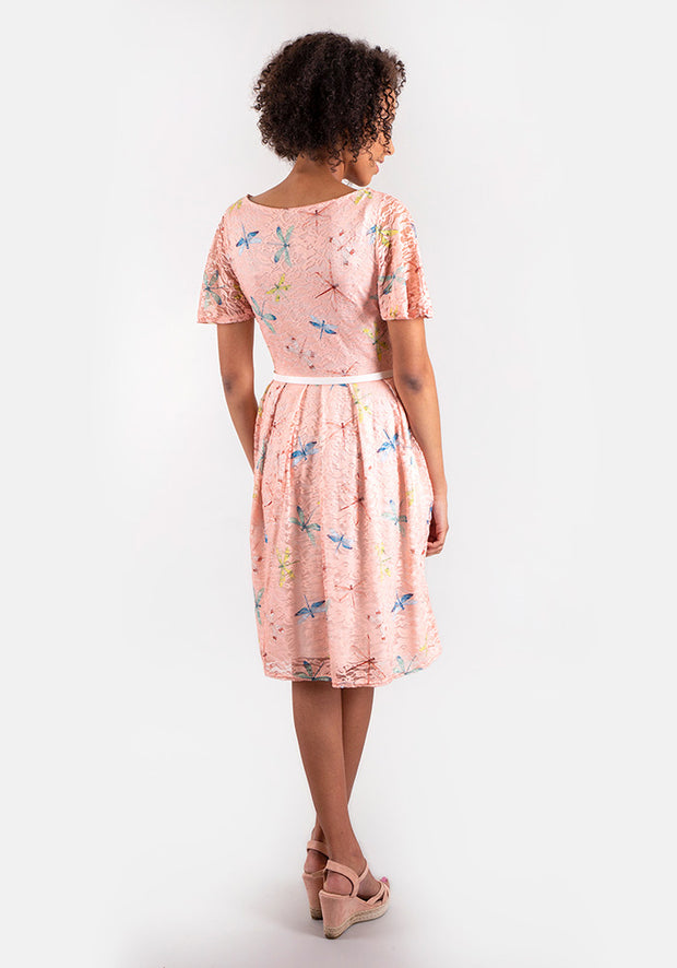 Frieda Dragonfly Lace Dress