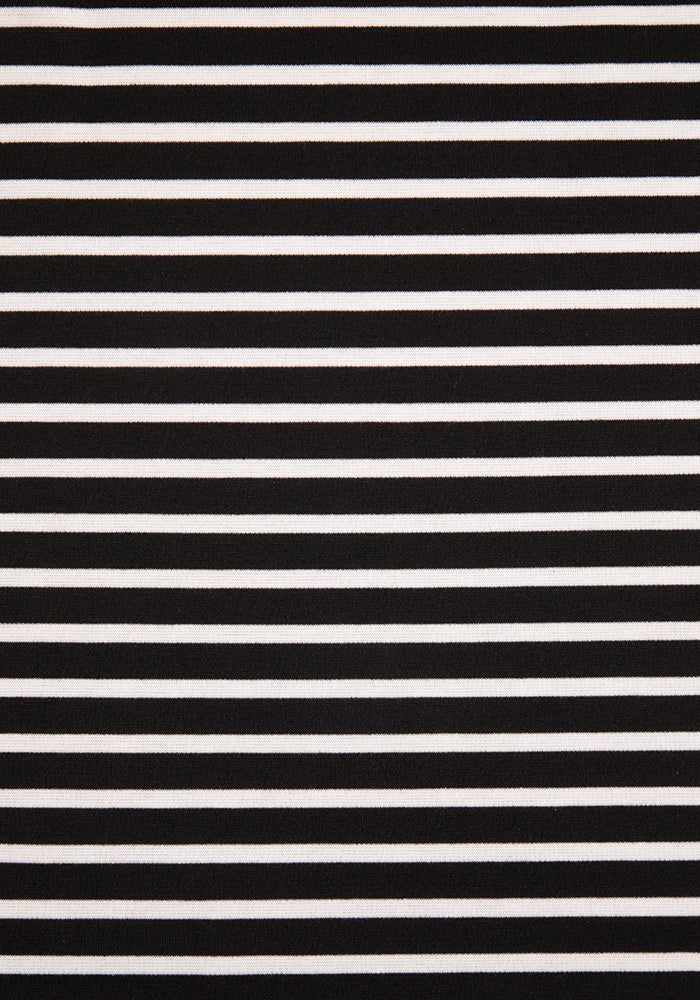 Shira Black & White Stripe  Dress