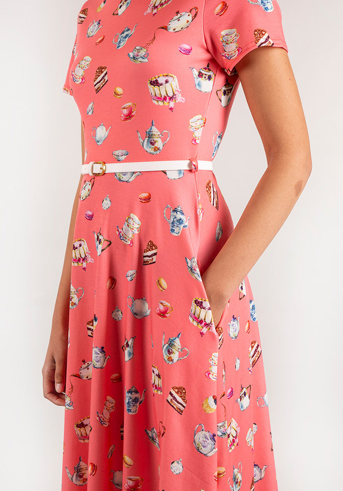 Tiffany Tea & Cake Print Dress