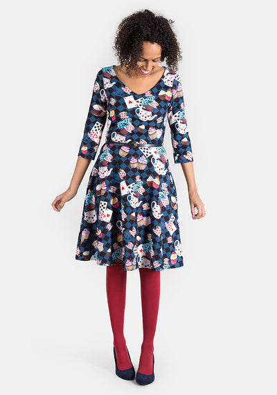 Alice Tea Party Print Dress