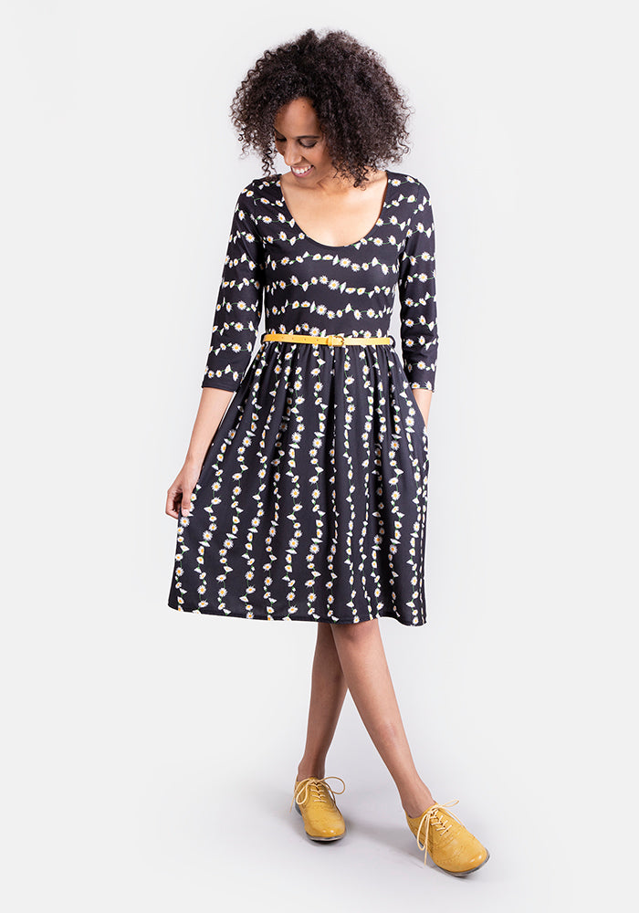 Daphne Daisy Chain Print Reversible Dress