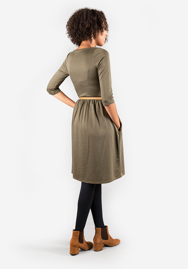 Lorna Khaki Colour Dress