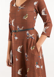 Donna Duck Print Dress