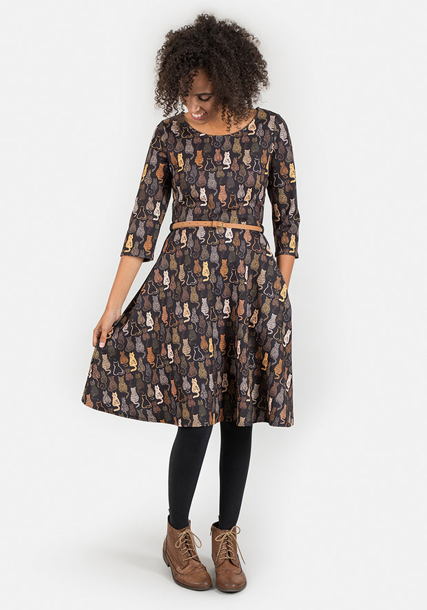 Callie Cat Print Dress