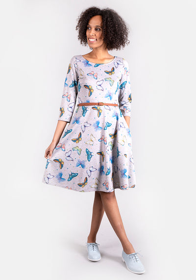 Belinda Butterfly Print Dress