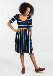 Bonita Navy Stripe Reversible Dress