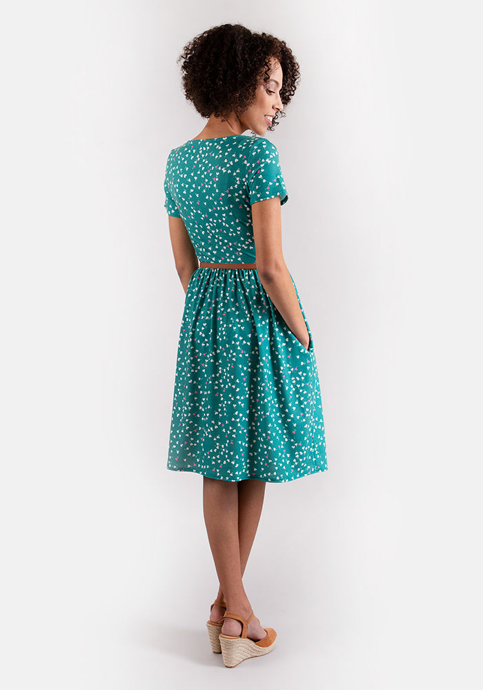 Elizabeth Heart Print Dress