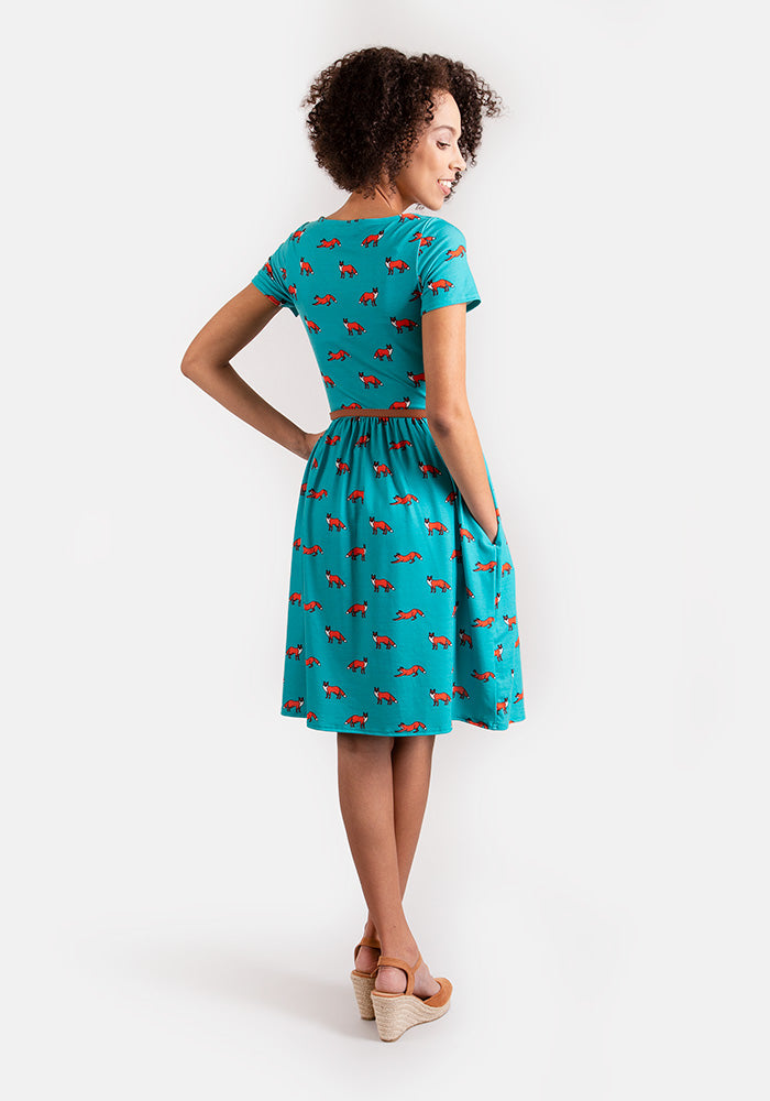 Fifi Fox Print Dress