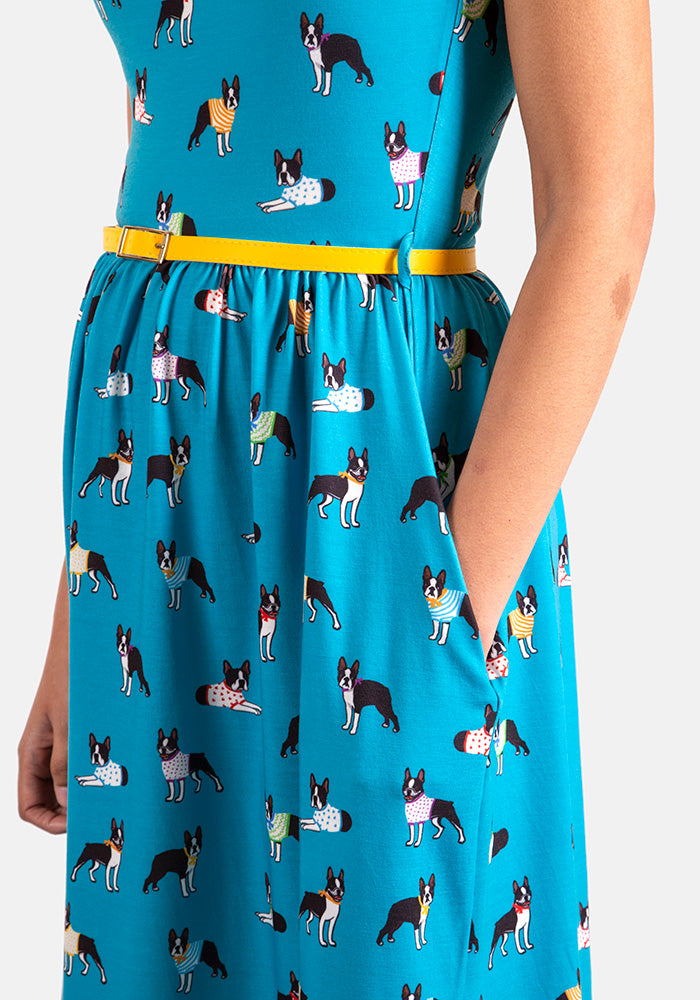 Frenchie Dog Print Dress