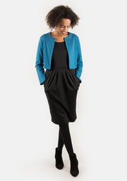 Janet Teal Cropped Jacket