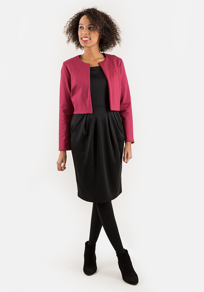 Janet Raspberry Cropped Jacket