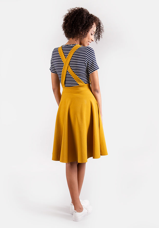 Jenny Mustard Pinafore Dress