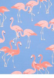 Kate Blue Flamingo Print Dress