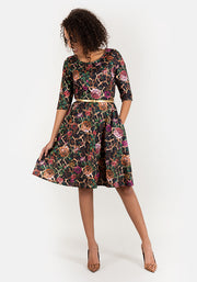 Lizzie Floral Leopard Print Dress
