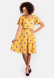 Maddie Yellow Floral Print