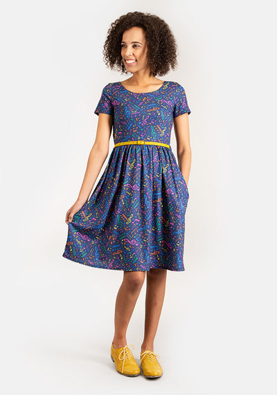 Melody Music Print Dress