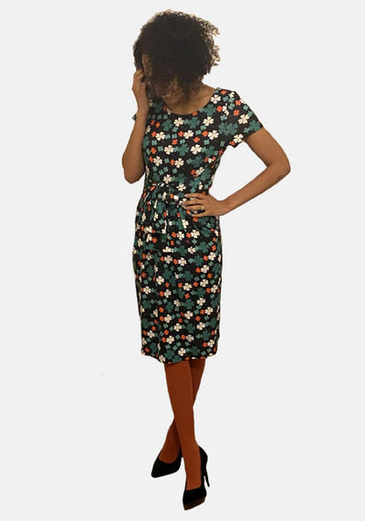 Lucky Four Leaf Clover Print Dress