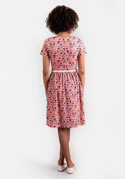 Quinn Swallow Print Dress