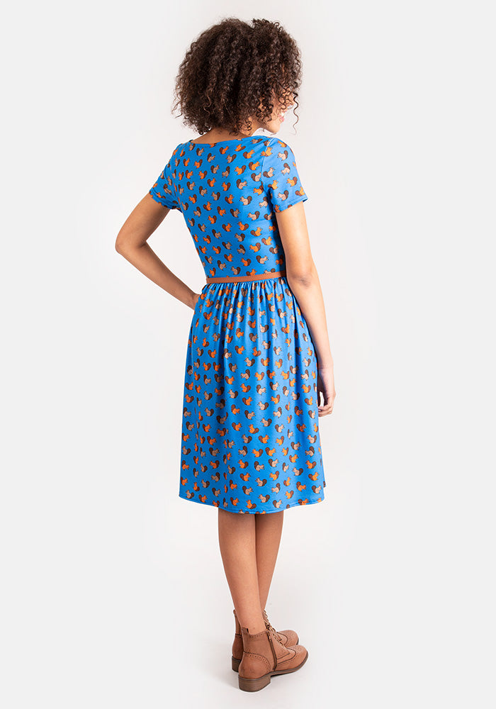 Sadie Squirrel Print Dress