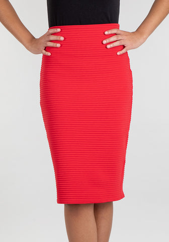 Vera Red Zip Skirt