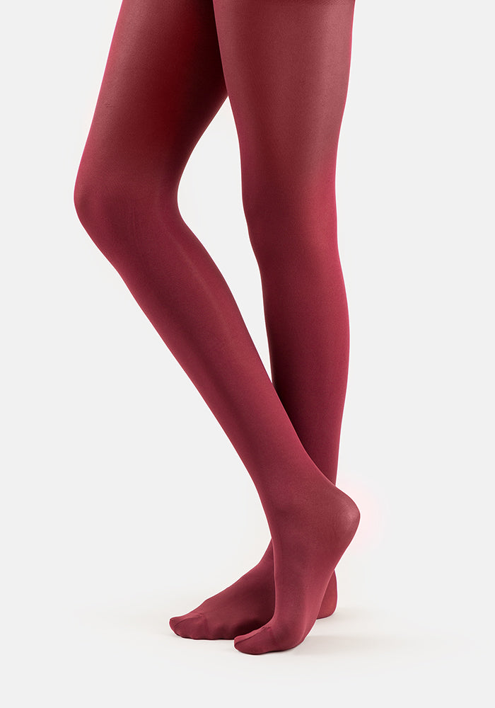 Premium 50 Denier Tights Burgundy