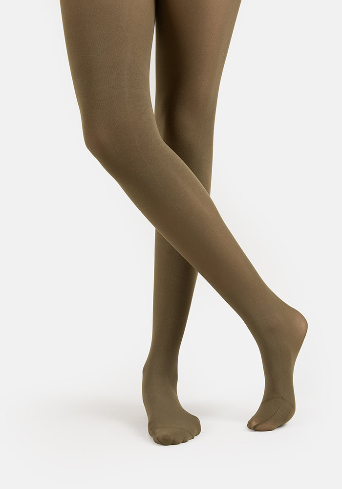 Premium 50 Denier Tights Dark Olive