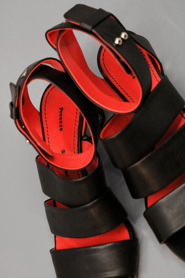 Proenza Schouler Mirror-heeled Leather Sandal (Est. Retail $995)