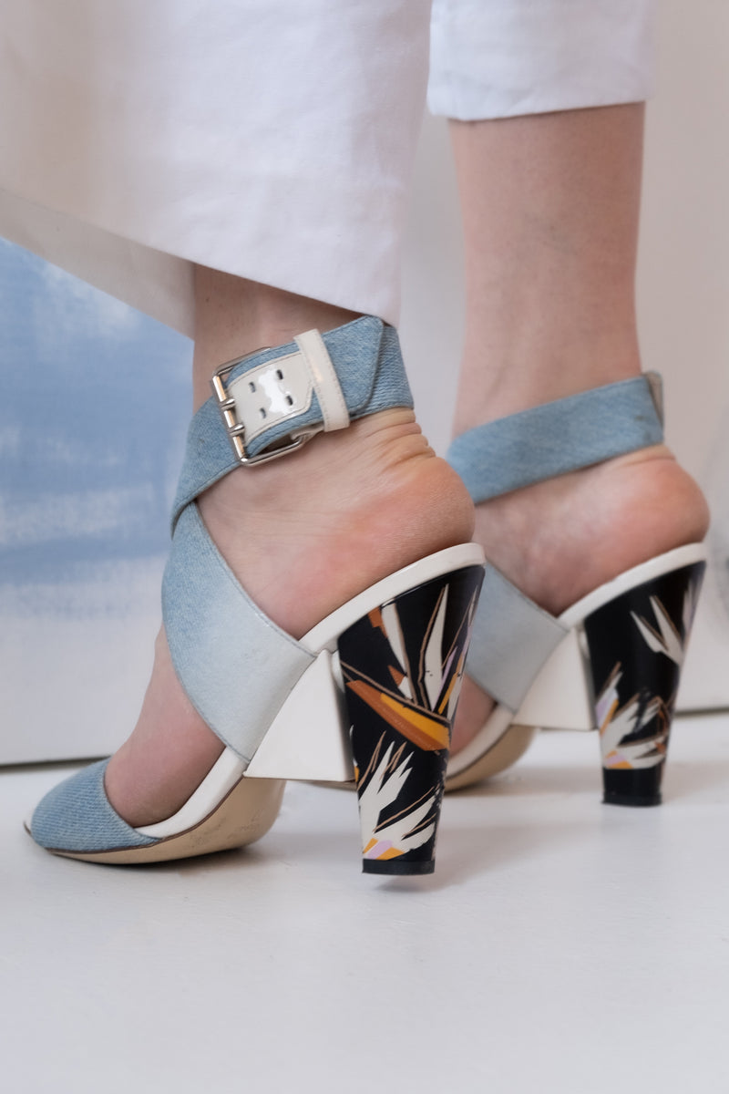 Fendi 'Beyond Bird of Paradise' Sandals