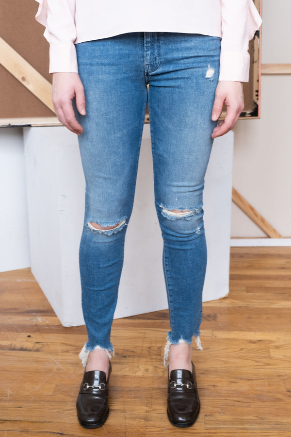 MOTHER Denim Distressed Skinny Jeans | New with tags (Est. retail $248)