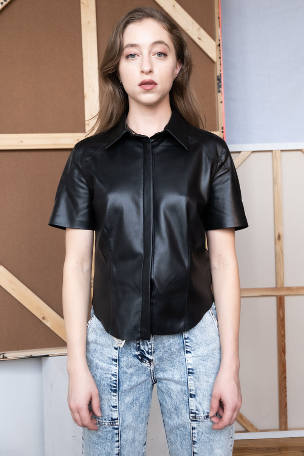 Nanushka Vegan Leather Top