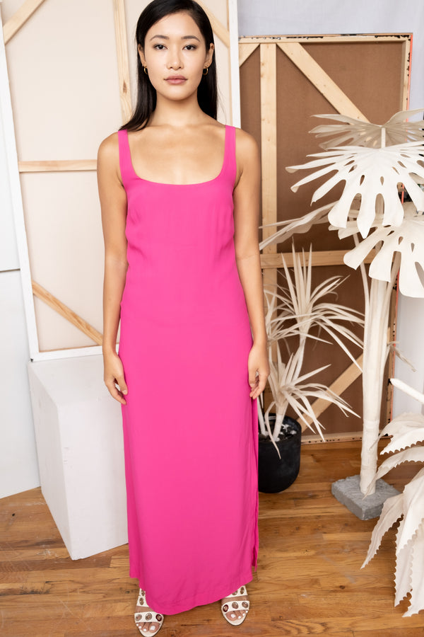 Staud Pink Maxi Dress