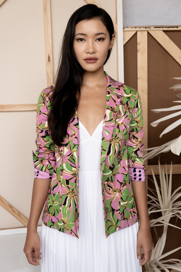 La Double J Printed Cotton Blazer