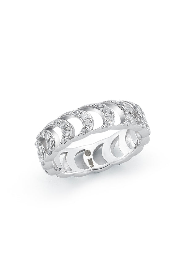 Deborah Pagani 'Deca Nueva' 18K White Gold and Diamond Band Ring (est. retail $2,500)