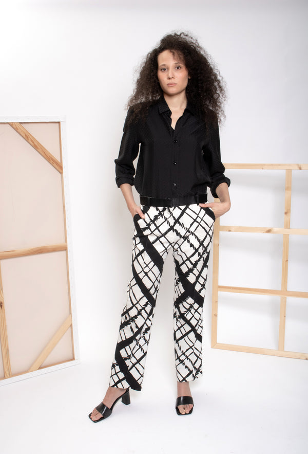 Celine Checked Trousers