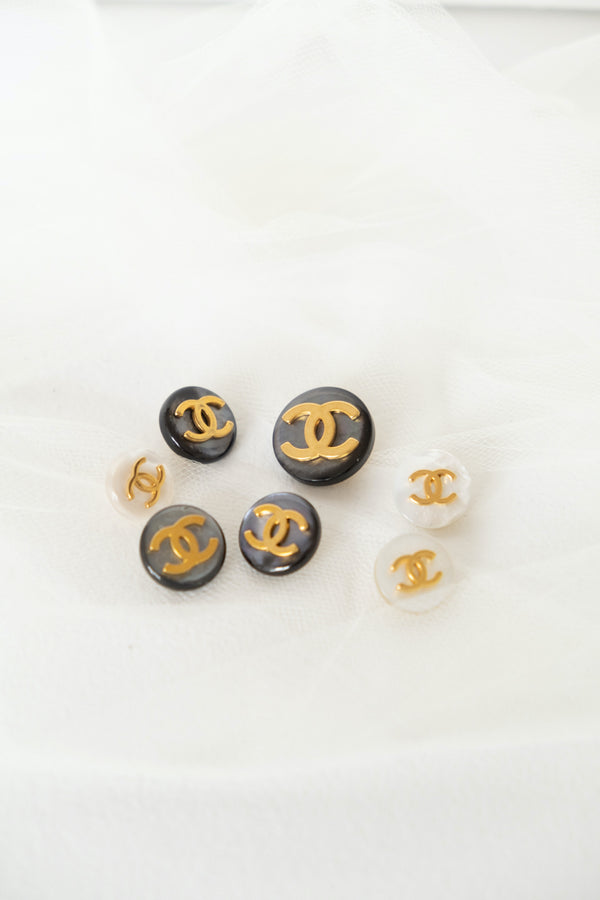 Chanel, Set of 7 Vintage Mother of Pearl Buttons