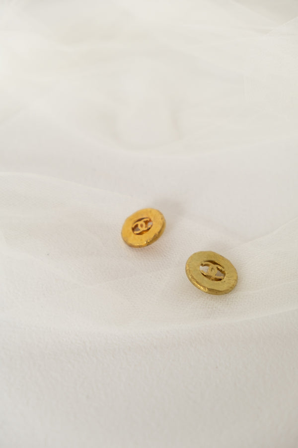 Chanel, Set of 2 Vintage CC Logo Buttons