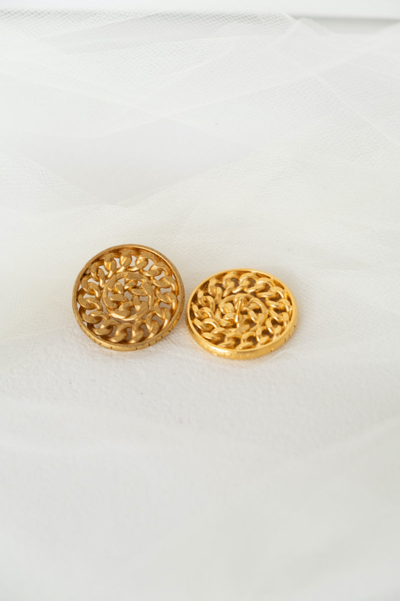 Chanel, Set of 2 Vintage Chain Link Buttons