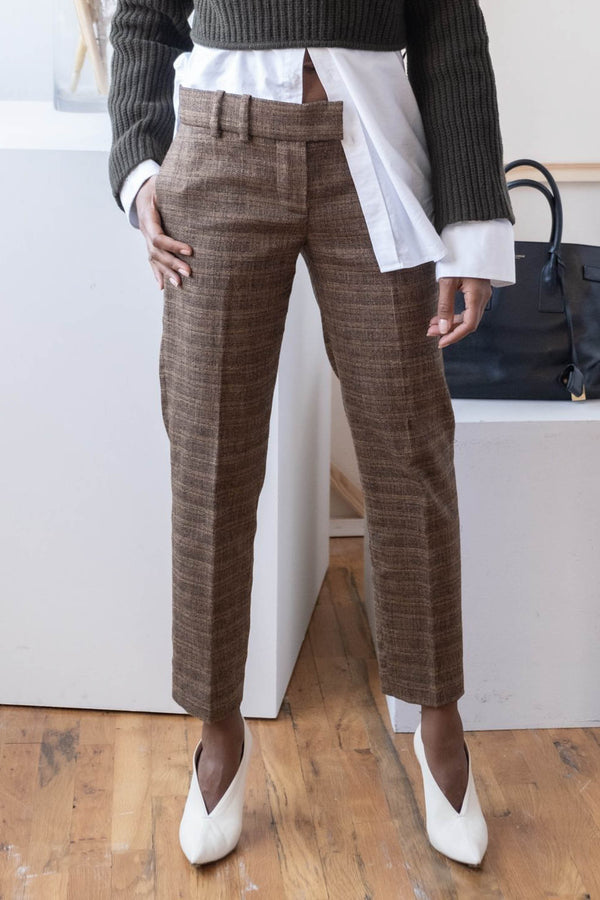 Chloé Cropped Tweed Pants